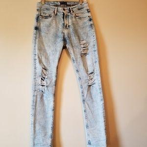 Zara Man Distressed Skinny Jeans